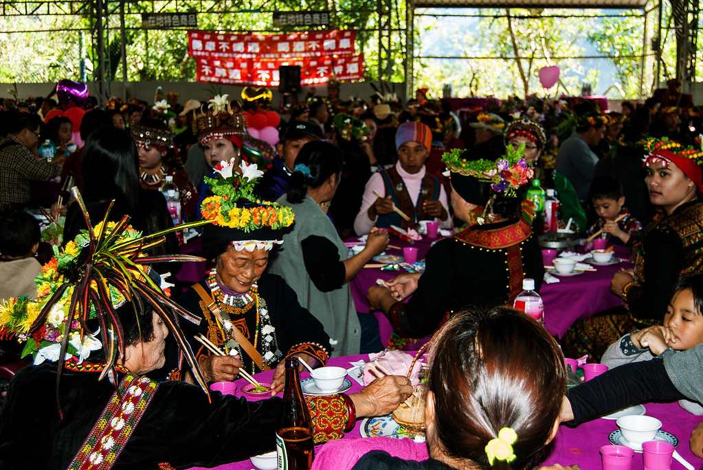 Feast at  Rukai Wedding, Wan Shan Village, Taiwan